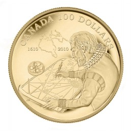 2010 Canada 14-karat Gold $100 Coin - 400th Anniversary of The Discovery of Hudson's Bay