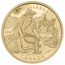 2012 Canada 14-karat Gold $100 Coin - 150th Anniversary of the Cariboo Gold Rush