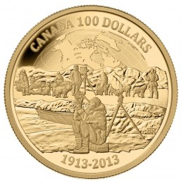 2013 (1913-) Canada 14-karat Gold $100 Coin - 100th Anniversary of the Arctic Expedition