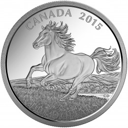 2015 Canadian $100 for $100 Canadian Horse - 1 oz Fine Silver Coin
