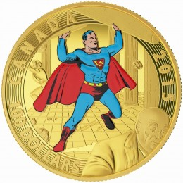 2015 Canadian $100 Iconic Superman™ Comic Book Covers: Superman #4 (1940) - 14-karat Gold Coin