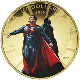 2016 Canadian $100 Batman v Superman: Dawn of Justice™ - 14-karat Gold Coin