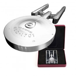 2017 Canadian $100 Star Trek™ USS Enterprise NCC-1701 10 oz Fine Silver Coin-A few minor blemishes on coin