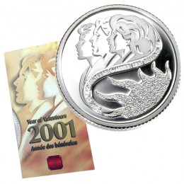 2001 Canadian 10-Cent Year of Volunteers/Marching Mothers Proof Sterling Silver Coin
