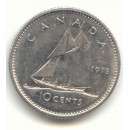 1973 Canadian 10-Cent Bluenose (Brilliant Uncirculated)