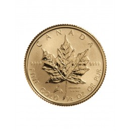 2005 Canada 1/4 oz Pure Gold $10 Coin Maple Leaf - Liberation Privy Mark
