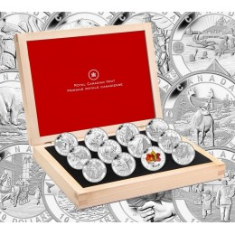 2013 Canada Fine Silver $10 12-Coin Set - O Canada Series, with Display Case no outer box