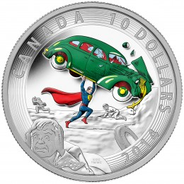 2014 Canada Fine Silver $10 Coin - Iconic Superman™ Comic Book Covers