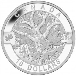 2014 Canada Fine Silver $10 Coin - O Canada Series: Down by the Old Maple Tree