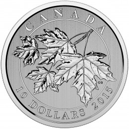 2015 Canada Fine Silver 10 Dollar Coin - Maple Leaf