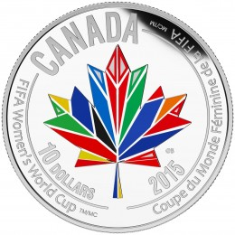 2015 Canada Fine Silver $10 Coin - FIFA Women's World Cup Canada 2015: Canada Welcomes the World
