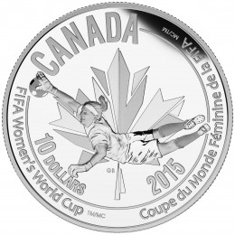 2015 Canada Fine Silver $10 Coin - FIFA Women's World Cup: The Goalie