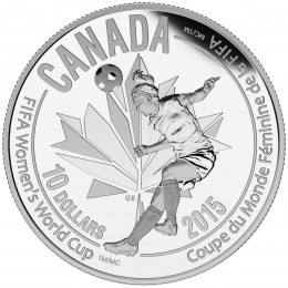 2015 Canada Fine Silver $10 Coin - FIFA Women's World Cup: Heading the Ball