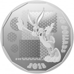 "2015 Canadian $10 Looney Tunes™: Bugs Bunny ""What's Up Doc?"" - 1/2 oz Fine Silver Coin"