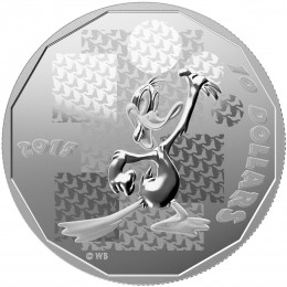 "2015 Canadian $10 Looney Tunes™: Daffy Duck ""You're Despicable"" - 1/2 oz Fine Silver Coin"