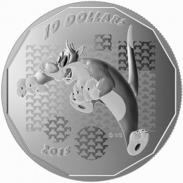 "2015 Canadian $10 Looney Tunes™: Sylvester the Cat ""Suffering Succotash!"" - 1/2 oz Fine Silver Coin"