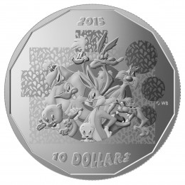 "2015 Canadian $10 Looney Tunes™: ""That's All Folks"" - 1/2 oz Fine Silver Coin"