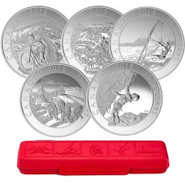 2015 Canadian $10 Adventure Canada - Fine Silver 5-Coin Set
