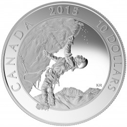 2015 Canadian $10 Adventure Canada: Ice Climbing - 1/2 oz Fine Silver Coin