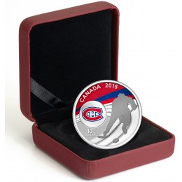 2015 Canada Fine Silver 10 Dollar Coin - Canadian Hockey: Montreal Canadiens