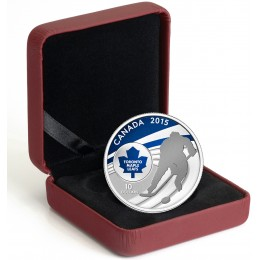 2015 Canada Fine Silver 10 Dollar Coin - Canadian Hockey: Toronto Maple Leafs