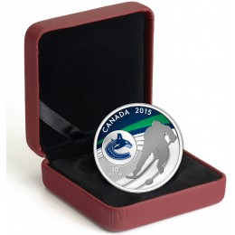 2015 Canada Fine Silver 10 Dollar Coin - Canadian Hockey: Vancouver Canucks