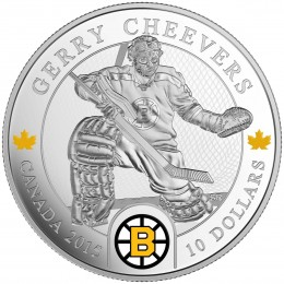 2015 Canada Fine Silver 10 Dollar Coin - NHL® Goalies: Gerry Cheevers