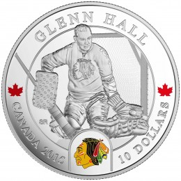 2015 Canada Fine Silver 10 Dollar Coin - NHL® Goalies: Glenn Hall