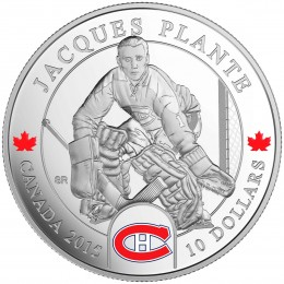 2015 Canadian $10 NHL® Goalies: Jacques Plante - 1/2 oz Fine Silver Coin