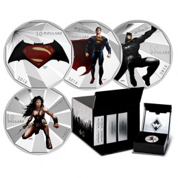 2016 Canadian $10 Batman v Superman: Dawn of Justice™ with Display Box - Fine Silver 4-Coin Set