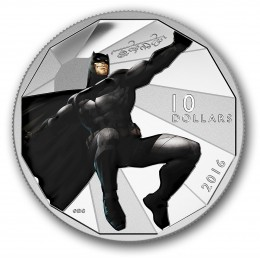 2016 Canadian $10 Batman v Superman: Dawn of Justice™ - BATMAN™ - 1/2 oz Fine Silver Coin
