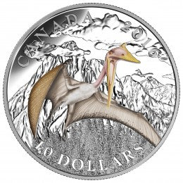 2016 Canada Fine Silver $10 Coin - Day of the Dinosaurs: Terror of the Sky