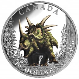 2016 Canada Fine Silver $10 Coin - Day of the Dinosaurs: The Spiked Lizard