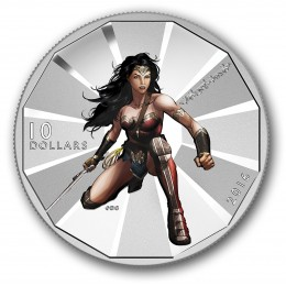 2016 Canadian $10 Batman v Superman: Dawn of Justice™ - WONDER WOMAN™ - 1/2 oz Fine Silver Coin