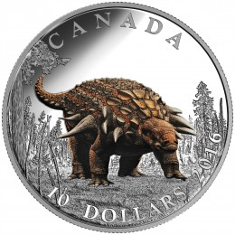 2016 Canada Fine Silver $10 Coin - Day of the Dinosaurs: The Armoured Tank