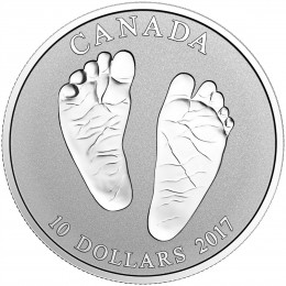 2017 Canada Fine Silver $10 Coin - Welcome to the World, Baby Feet