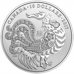 2017 Canada Fine Silver $10 Coin - Year of the Rooster