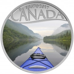 2017 Canada Fine Silver $10 Coin - Celebrating Canada's 150th: Kayaking on the River
