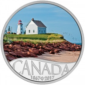 2017 Canadian $10 Celebrating Canada's 150th: Panmure Island - 1/2 oz Fine Silver Coin