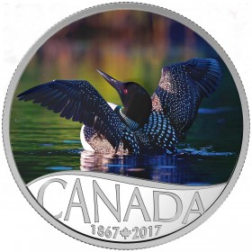 2017 Canadian $10 Celebrating Canada's 150th: Common Loon - 1/2 oz Fine Silver Coin