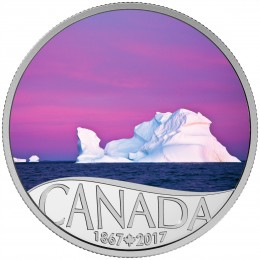 2017 Canada Fine Silver $10 Coin - Celebrating Canada's 150th: Iceberg at Dawn
