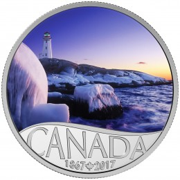 2017 Canada Fine Silver $10 Coin - Celebrating Canada's 150th: Lighthouse at Peggy's Cove