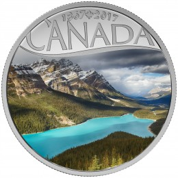 2017 Canada Fine Silver $10 Coin - Celebrating Canada's 150th: Peyto Lake