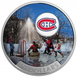 2017 Canadian $10 Passion to Play: Montreal Canadiens - 1/2 oz Fine Silver Coin