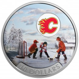 2017 Canadian $10 Passion to Play: Calgary Flames - 1/2 oz Fine Silver Coin
