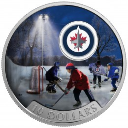2017 Canada Fine Silver $10 Coin - Passion to Play: Winnipeg Jets