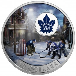 2017 Canadian $10 Passion to Play: Toronto Maple Leafs - 1/2 oz Fine Silver Coin