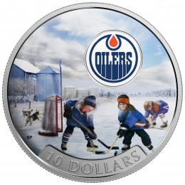 2017 Canadian $10 Passion to Play: Edmonton Oilers - 1/2 oz Fine Silver Coin