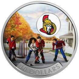 2017 Canadian $10 Passion to Play: Ottawa Senators - 1/2 oz Fine Silver Coin
