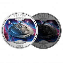 2018 Canadian $10 Star Trek™ Iconic Starships: Enterprise NX-01 - 1/2 oz Fine Silver Coin (Glow-In-The-Dark)